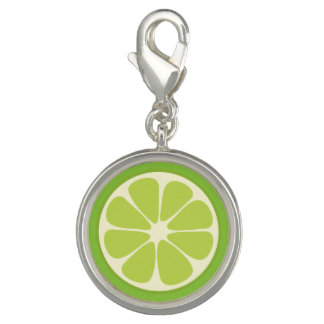 Lemon Lime Green Juicy Summer Citrus Fruit Slice