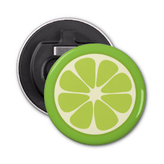 Lemon Lime Green Juicy Summer Citrus Fruit Slice Bottle Opener