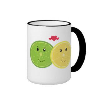 Lemon Lime Love Kawaii Vector Coffee Mugs