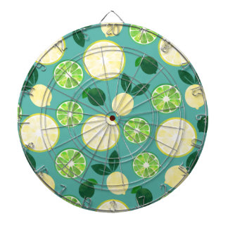 Lemon Lime Pattern Dartboard