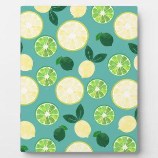 Lemon Lime Pattern Plaque