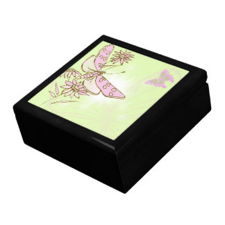 Lemon Lime Pink Butterfly Gift Box