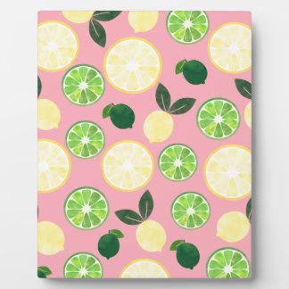 Lemon Lime Pink Plaque