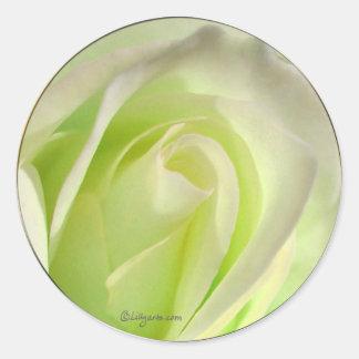 Lemon Lime Rose Wedding Envelope Seal Round Sticker