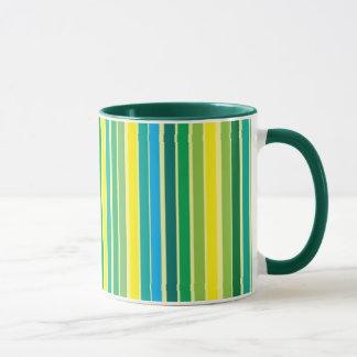 Lemon Lime Stripes Designer Mug