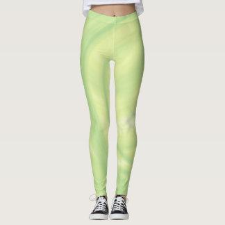 Lemon Lime  Swirl Leggings