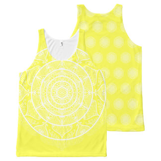 Lemon Mandala All-Over Print Singlet