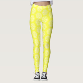 Lemon Mandala Leggings