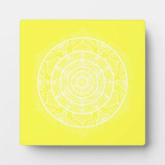 Lemon Mandala Plaque