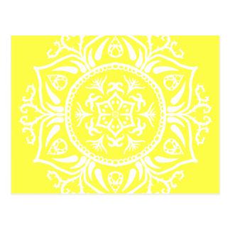 Lemon Mandala Postcard