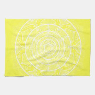 Lemon Mandala Tea Towel