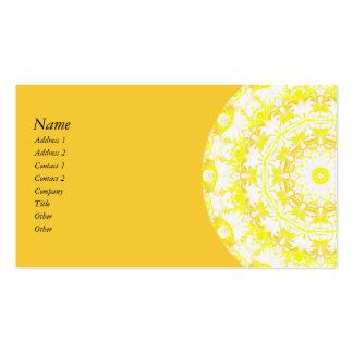 Lemon Meringue Kaleidoscope Business Card Template