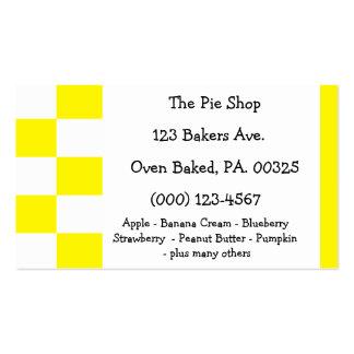 Lemon Meringue Pie Colors Business Card Templates