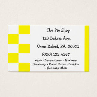 Lemon Meringue Pie Colors Business Card