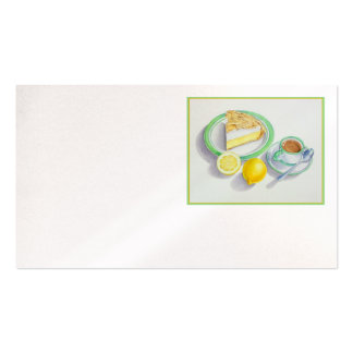 Lemon Meringue Pie with Espresso Double-Sided Standard Business Cards (Pack Of 100)