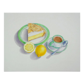 Lemon Meringue Pie with Espresso Poster