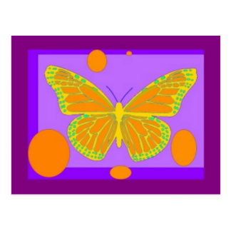 Lemon Monarch Butterfly Purple Gifts by Sharles Postcard