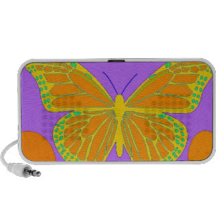 Lemon Monarch Butterfly Purple Gifts by Sharles Travelling Speakers