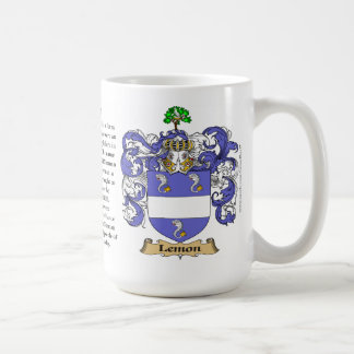 Lemon name the Origin the Meaning and the Crest Mug