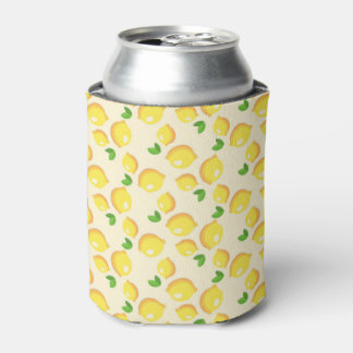 Lemon Pattern Can Cooler