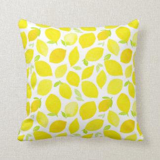 Lemon pattern pillow