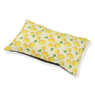Lemon Pattern Small Dog Bed