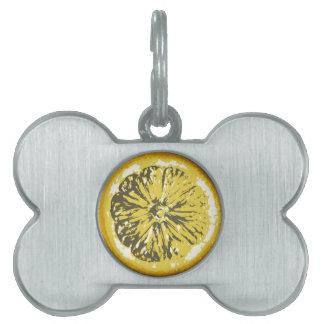 Lemon Pet Name Tag