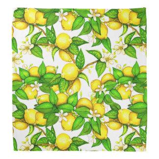 Lemon Print Bandana on white
