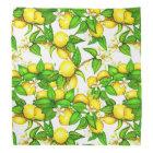 Lemon Print Bandanna on white