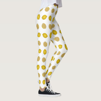 Lemon Print Leggings
