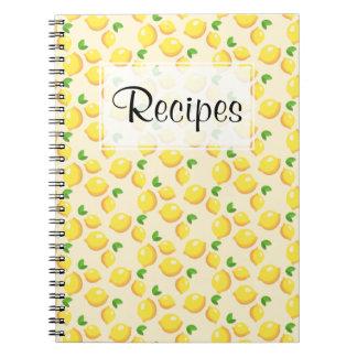 Lemon Recipe Journal