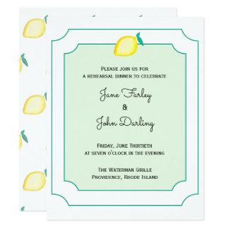 Lemon Rehearsal Dinner Invitation