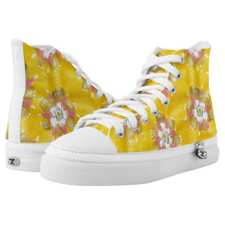 Lemon Rose High Top Shoes