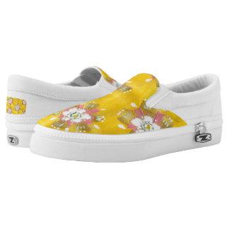 Lemon Rose Slip On Shoes