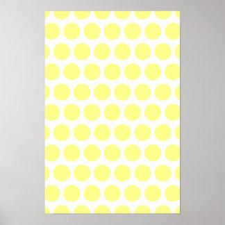 Lemon Sherbet Polka Dots Posters