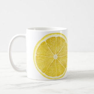 Lemon slice basic white mug