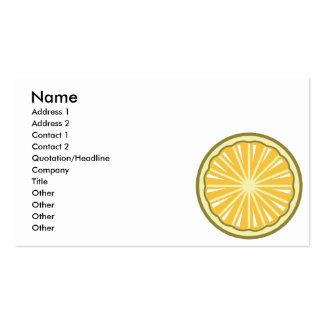 lemon slice business cards