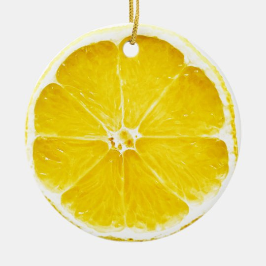 Lemon Slice Dble-sided Ornament