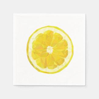 Lemon Slice Geometric Design Napkins Disposable Napkin