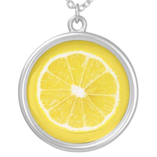 lemon slice necklaces