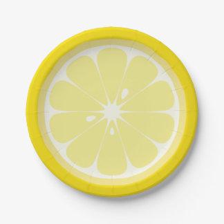 Lemon Slice Paper Plate