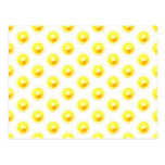 Lemon Slice Polka Dots Post Card
