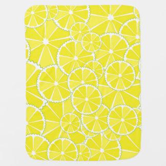 Lemon slices baby blanket