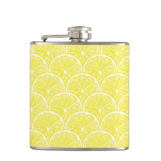 Lemon slices hip flask