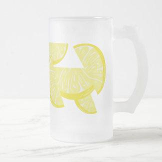 Lemon Slices Lemonade Frosted Glass Mug