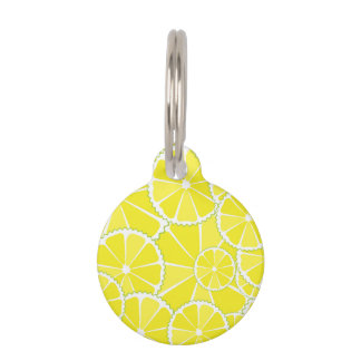 Lemon slices pet tag