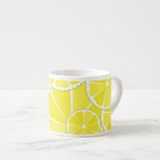 Lemon slices espresso mugs