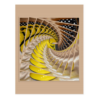 Lemon Slices Spiral Staircase with Polka Dot Boots Postcard