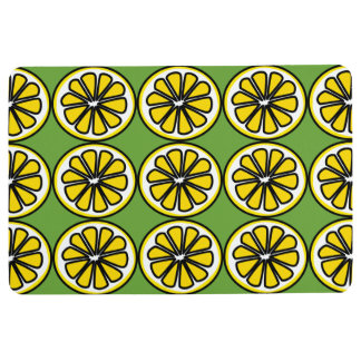 Lemon Slices Yellow Green Kitchen Floor Mat