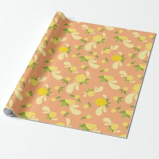 Lemon Splash Wrapping Paper